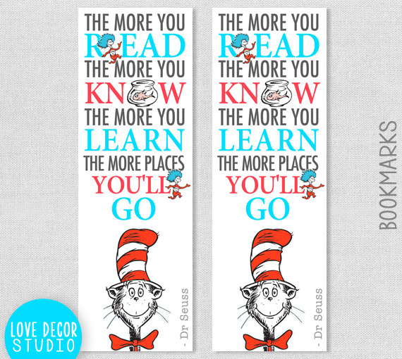 8 Images of Dr. Seuss Hat Printable Bookmark
