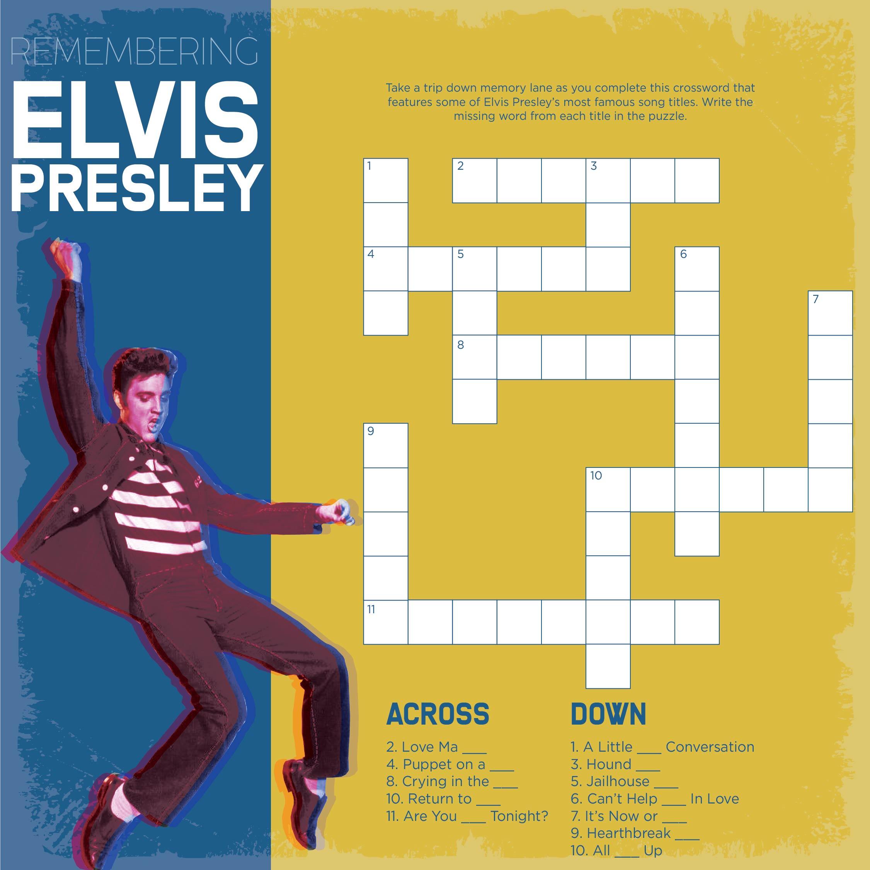 Elvis Presley Worksheets