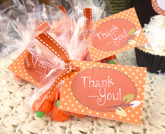 see fall pumpkin baby shower party favors baby shower thank you gift
