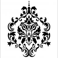 5 Images of Damask Stencil Printable Template