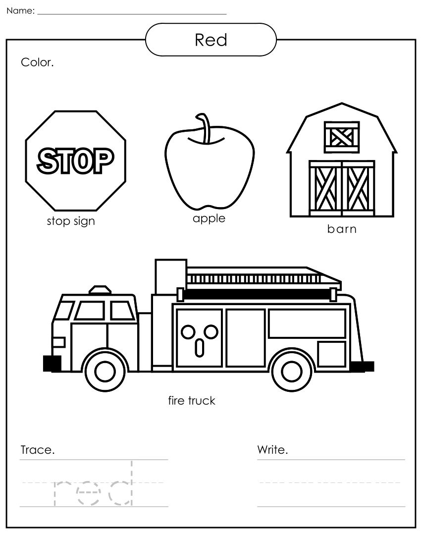 Worksheets Free Color Worksheets 7 best images of free printable preschool worksheets colors colors