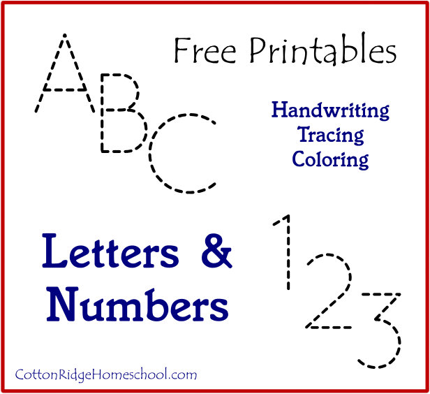 Number Names Worksheets free printable traceable numbers : 5 Best Images of Printable Letters And Numbers For Preschool ...