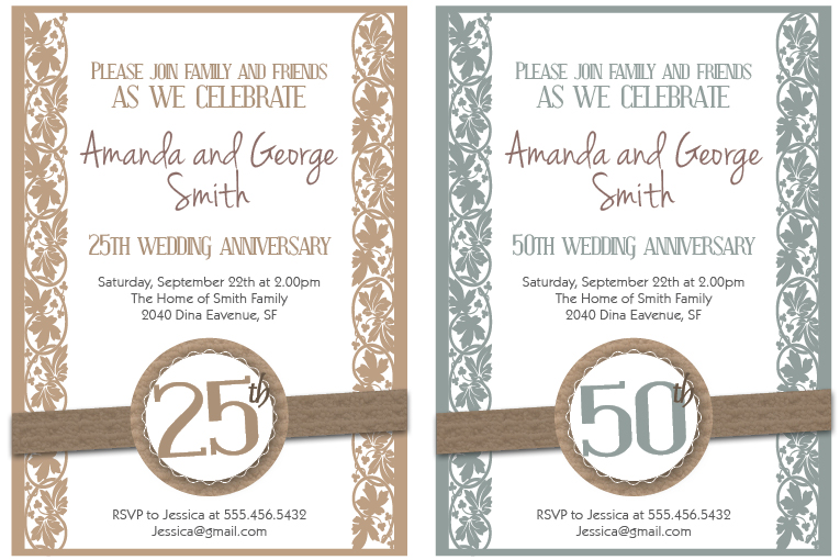 Free Printable Ruby Wedding Anniversary Cards Design Template