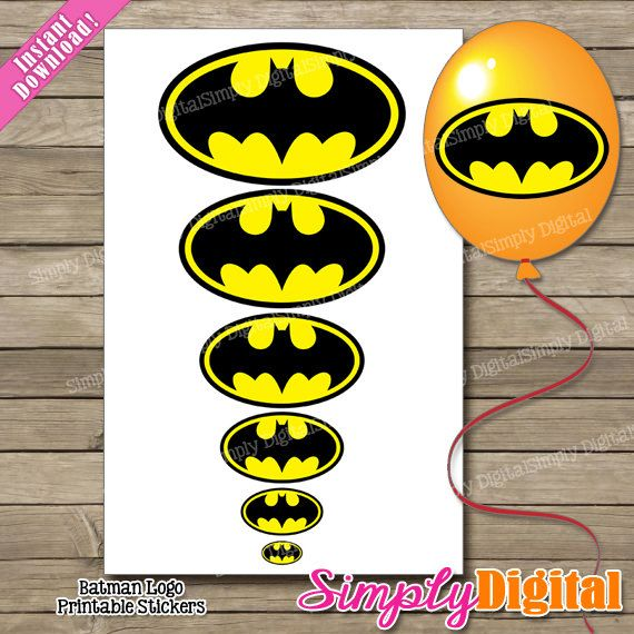 8 Images of Logo For Batman Party Favors Free Printable Tags