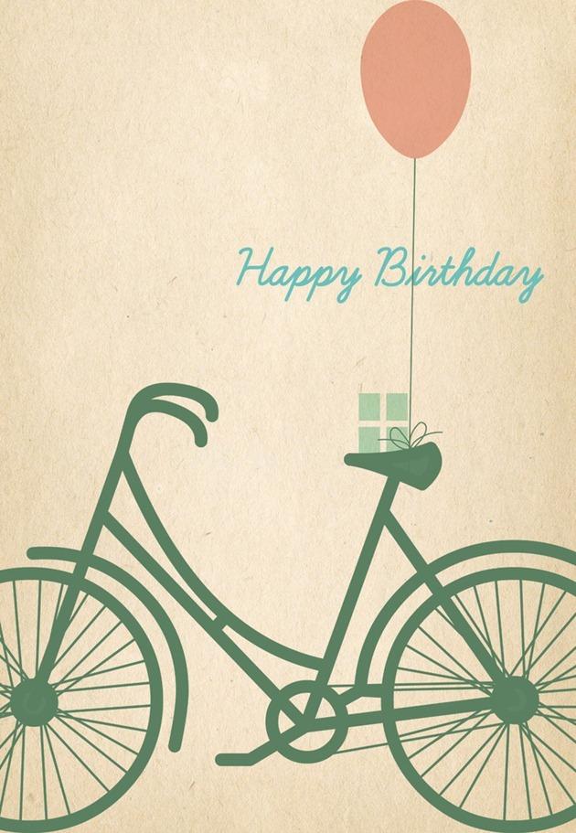 Free Printable Birthday Card Bicycle