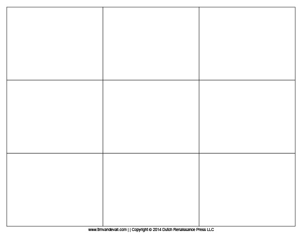 7 Images of Printable Blank Flash Card Template