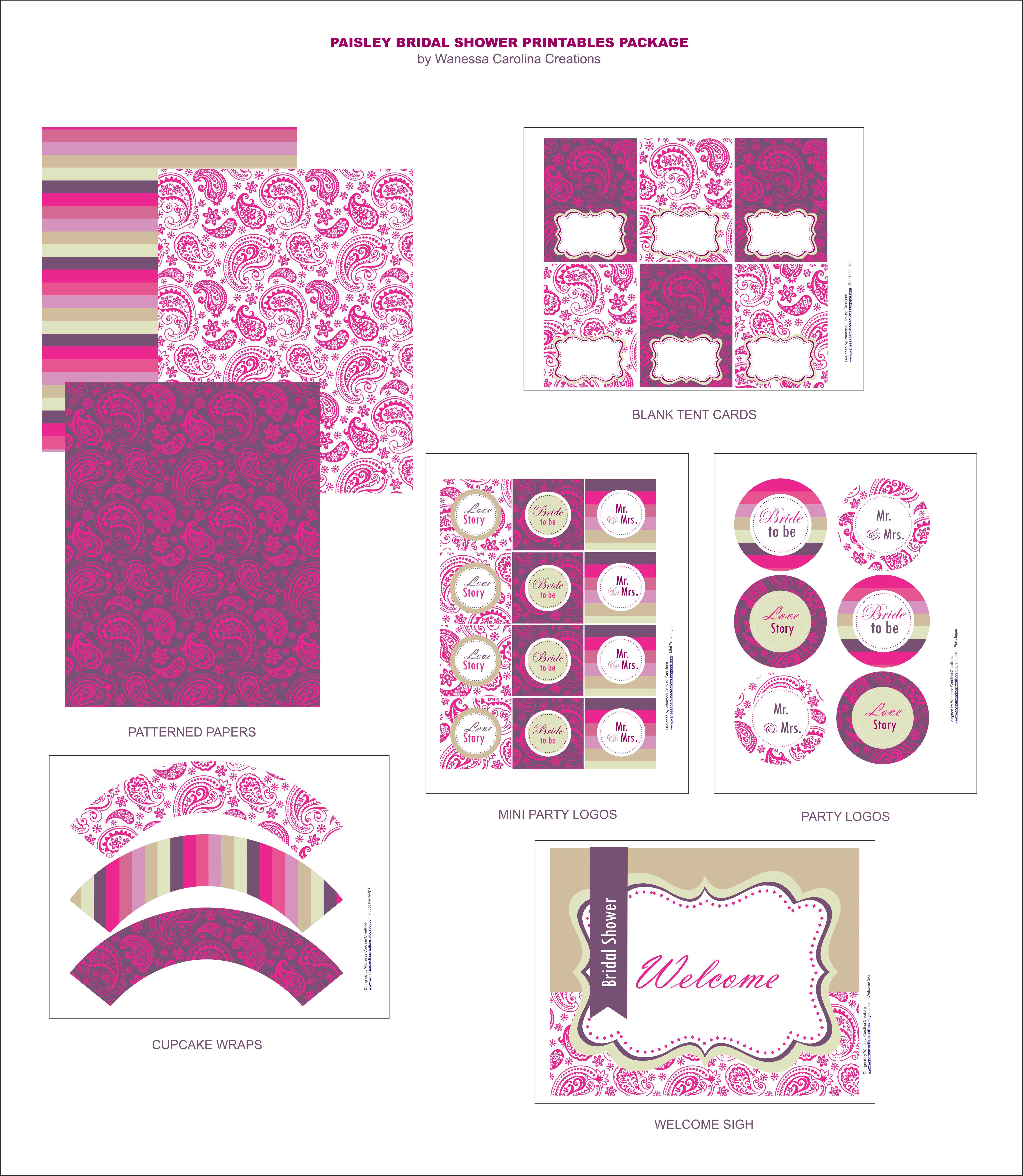 9 Images of Free Bridal Printables