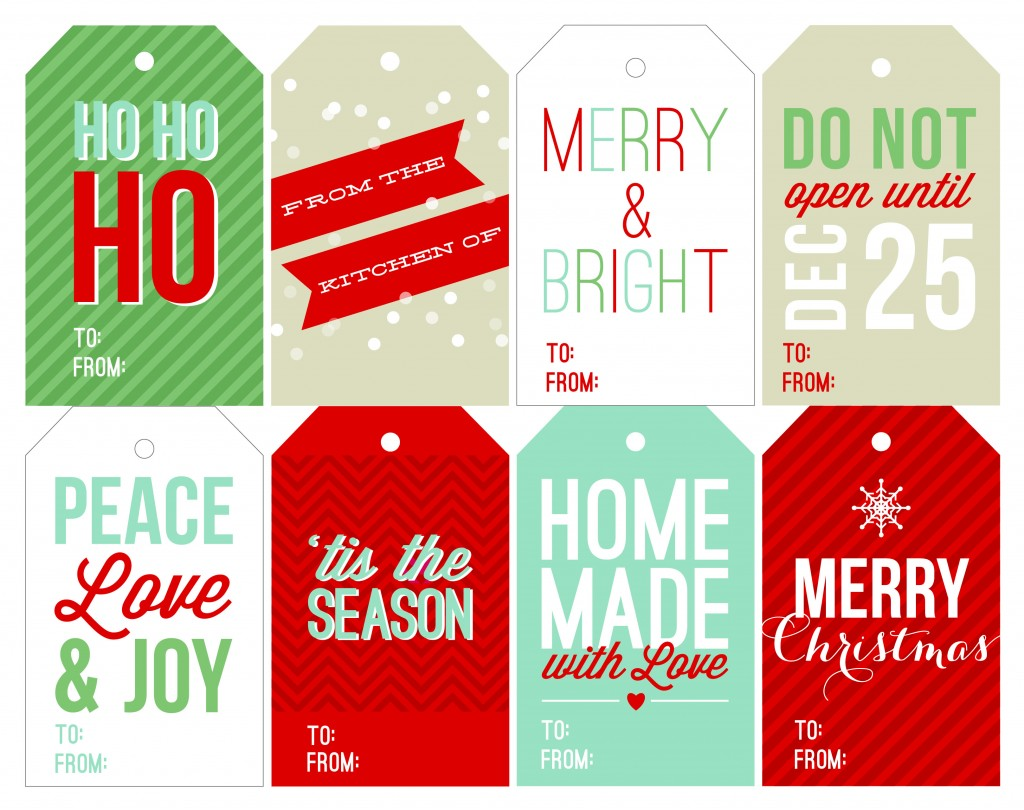 7 Images of Printable Holiday Tags