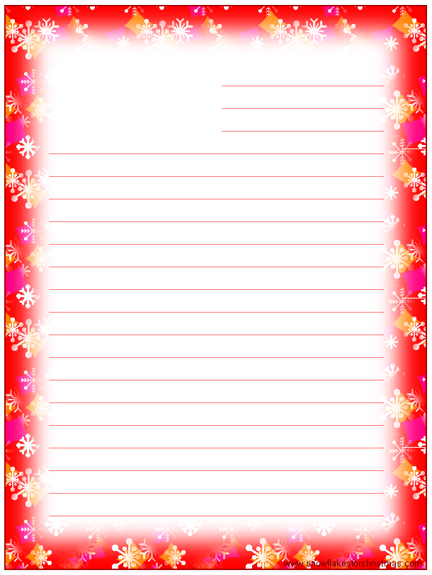 Holiday stationery paper