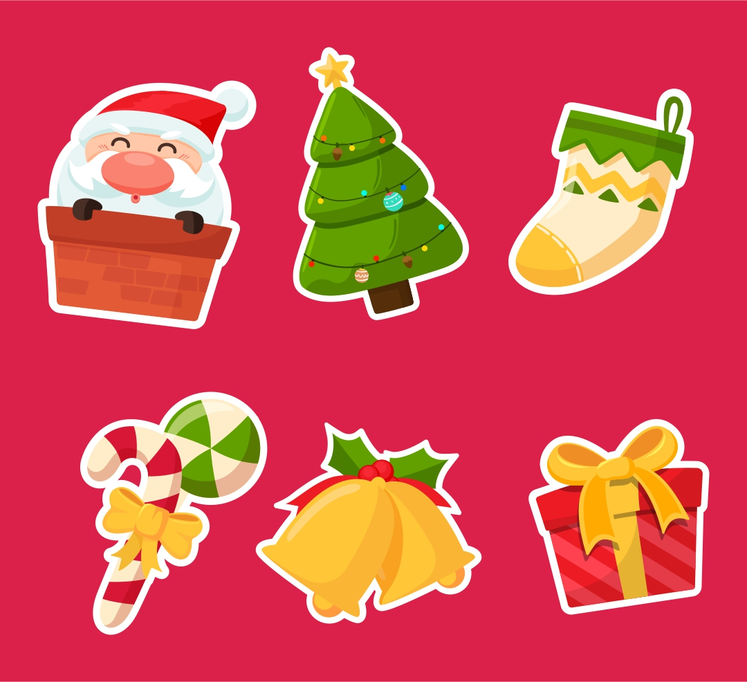 Free Printable Christmas Stickers