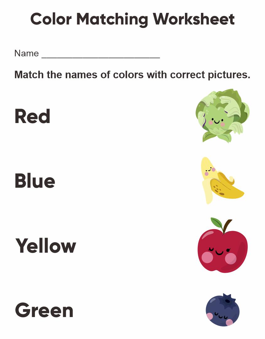 7 Images of Free Printable Preschool Worksheets Colors
