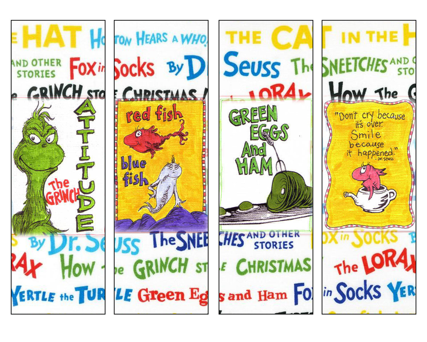 5 Images of Dr. Seuss Printable Bookmarks