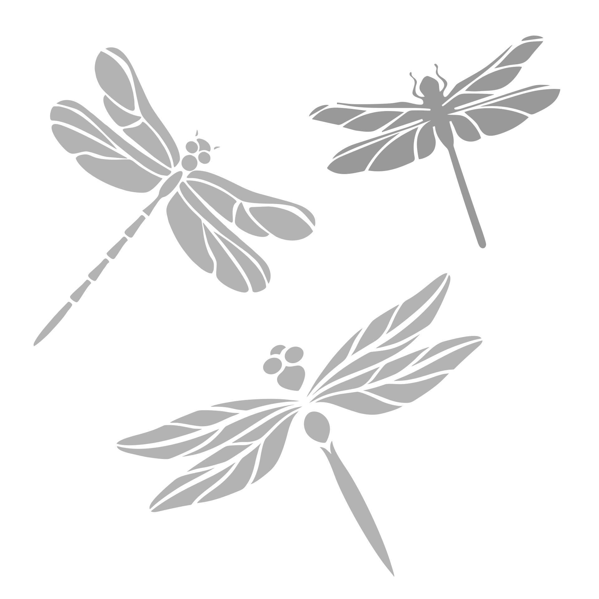 Printable Dragonfly Stencil