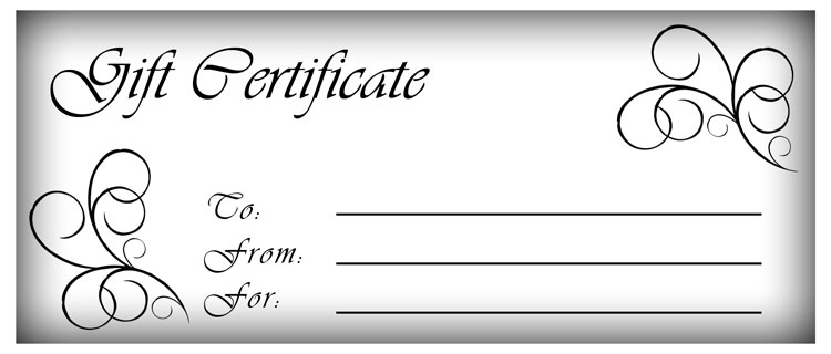 7 Images of Make Your Own Gift Certificate Printable Free