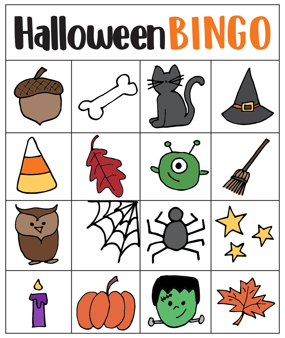 4 Images of Free Printable Halloween Bingo Cards For Kids