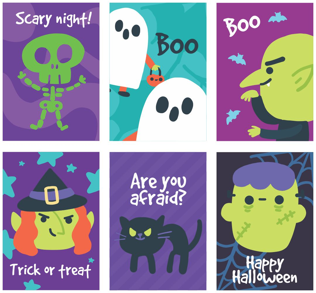 7 Images of Printable Halloween Goodie Bag Tags