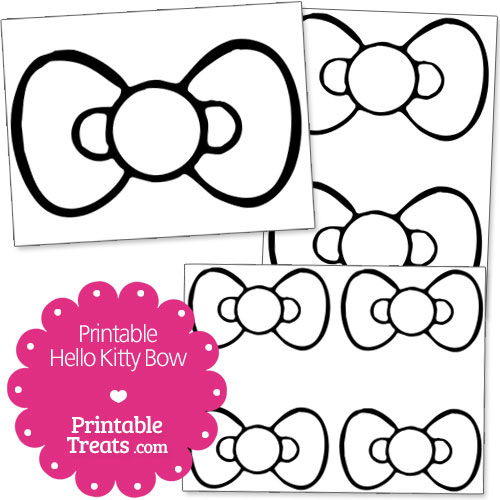 5 Images of Hello Kitty Bow Printable