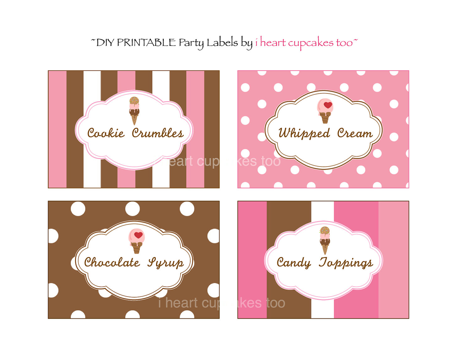 7 Images of Ice Cream Food Labels Printable Free