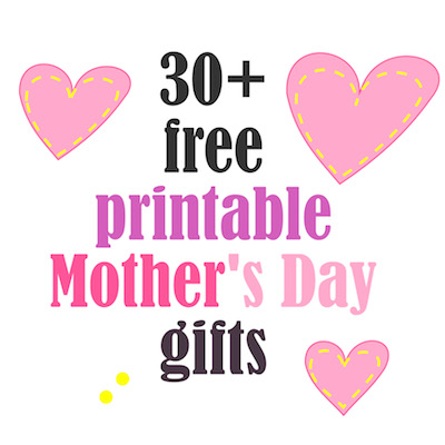 Free Printable Mother's Day Gift