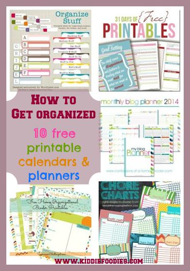 Free Printable Organization Calendars