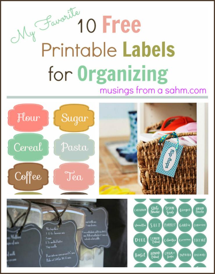 Free Printable Organizing Labels