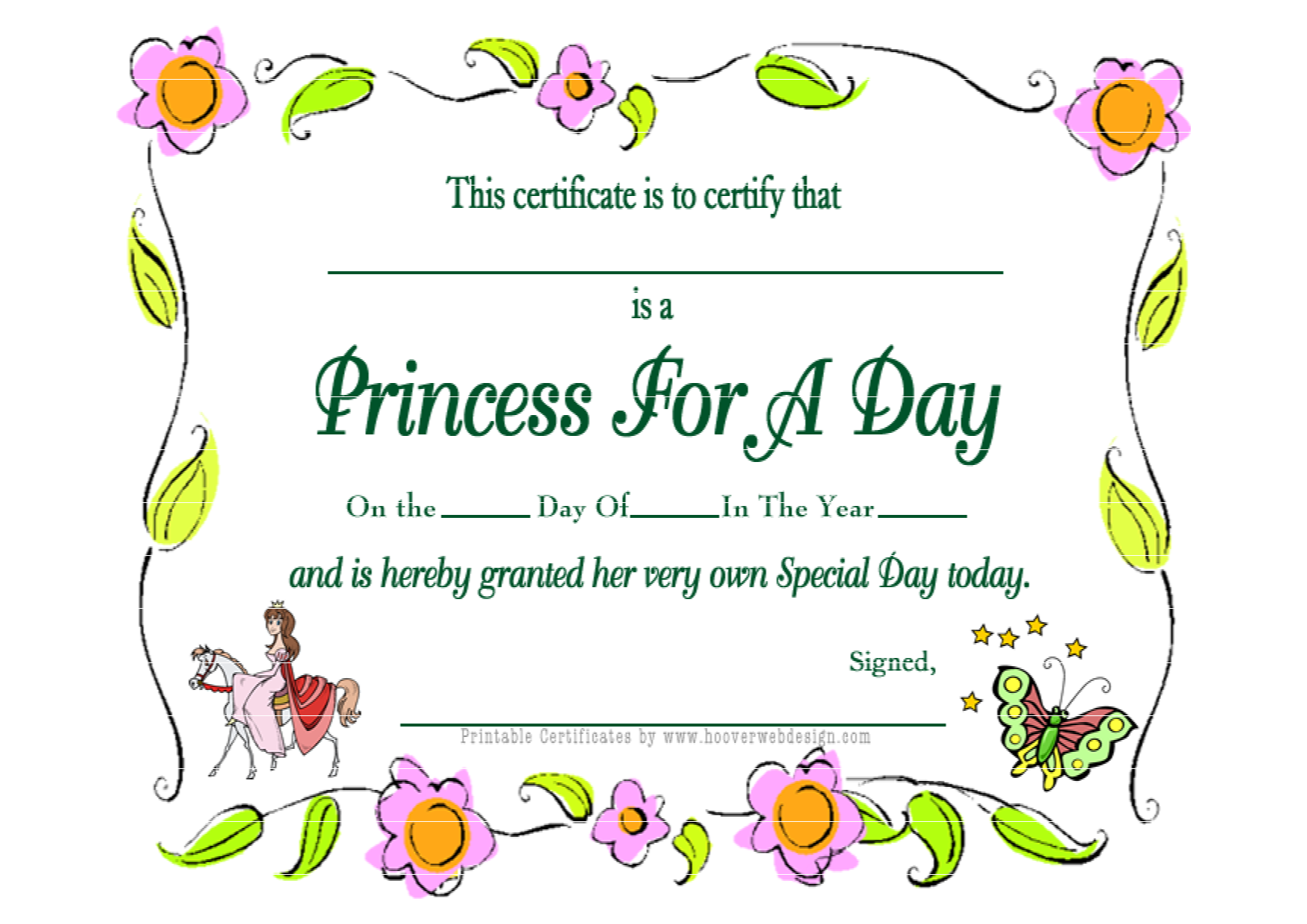 7 best images of printable birthday certificates happy for Free printable certificate templates
