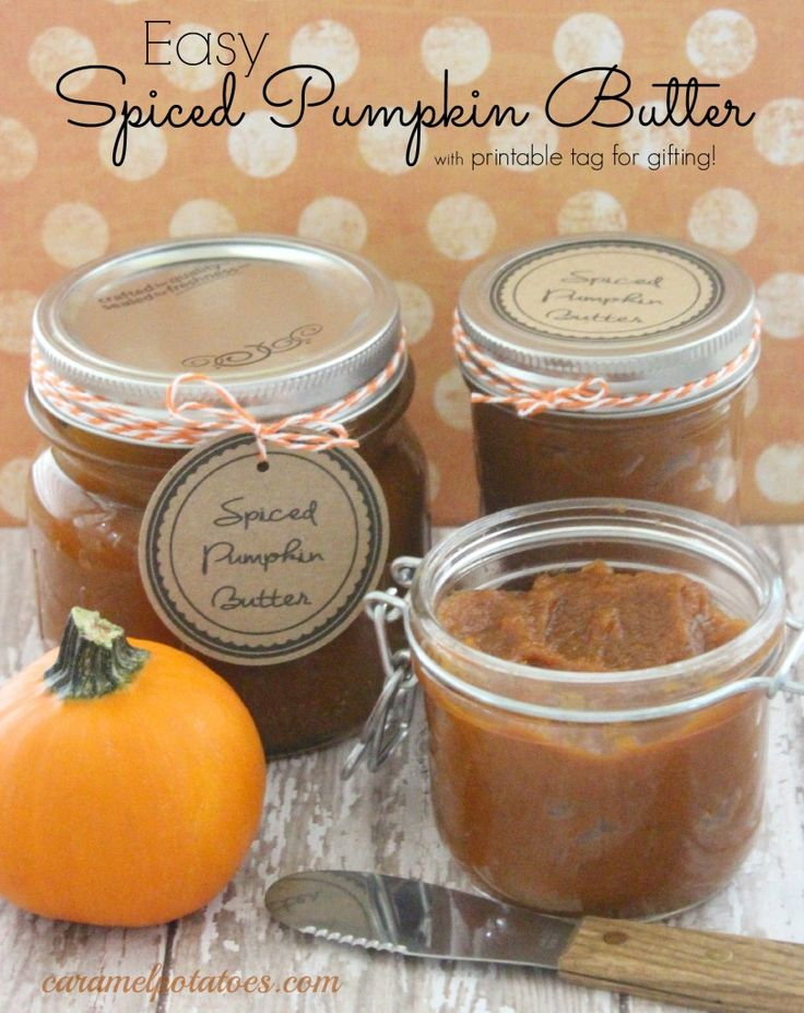 9 Images of Pumpkin Butter Printable Tags
