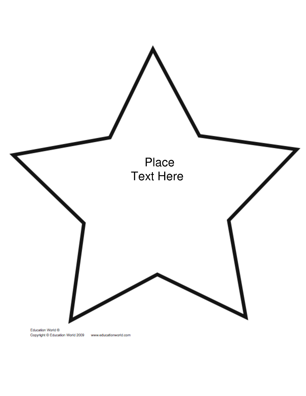 7 Images of Shape Star Template Printable