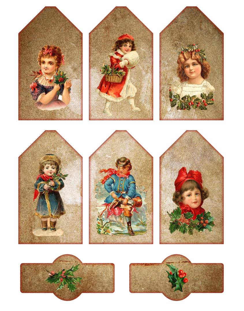 Printable Vintage Christmas Tags