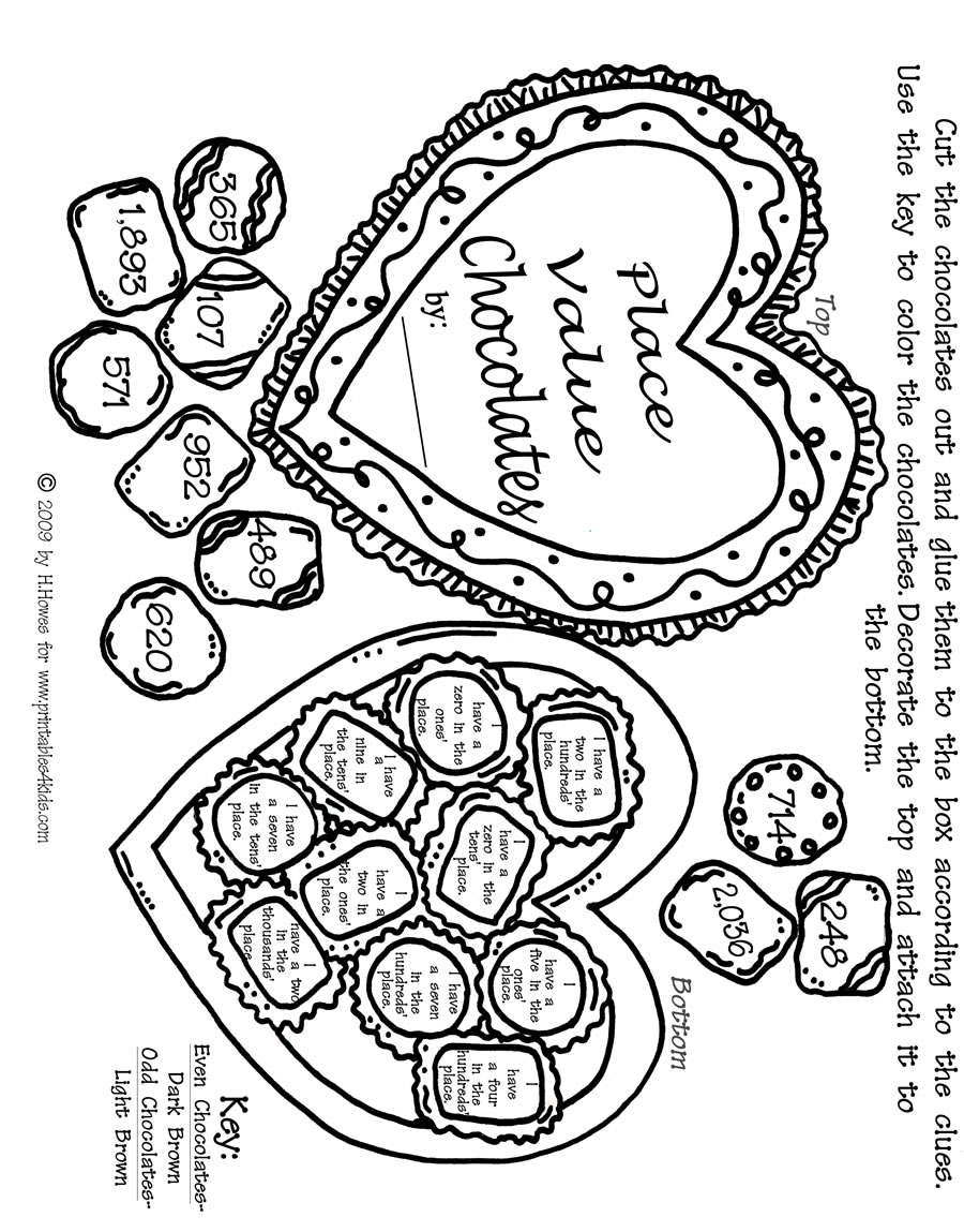 math worksheet : 5 best images of valentine s day math printable worksheets  : Kindergarten Valentine Math Worksheets
