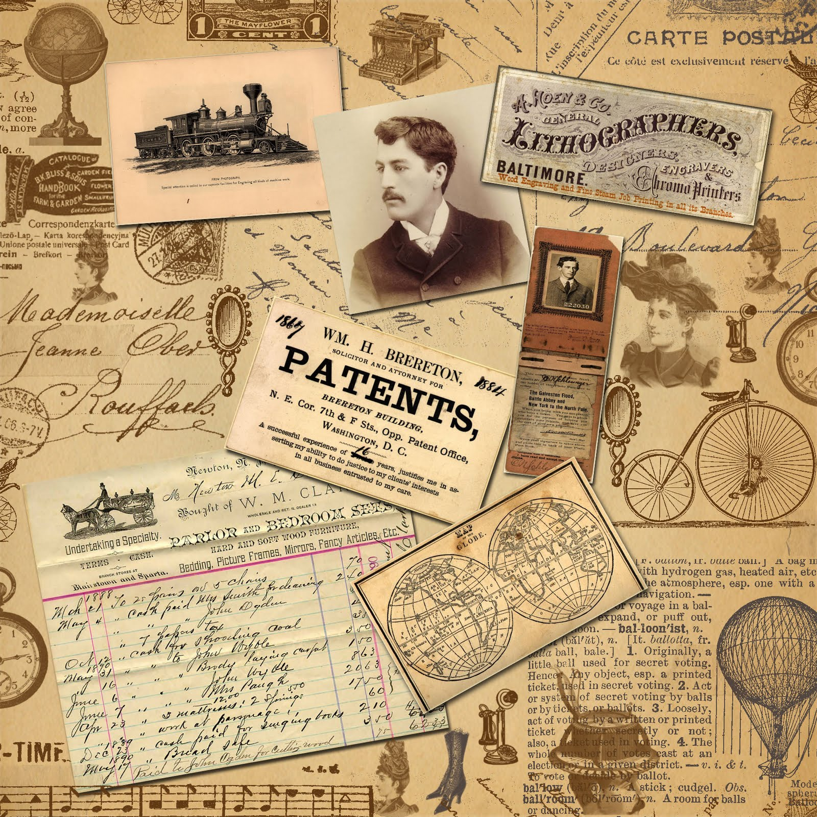 9 Images of Free Printable Vintage Background Papers