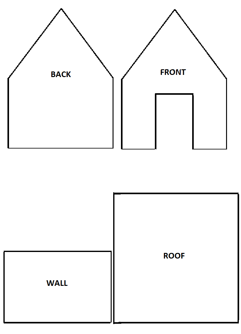 5 Images of Gingerbread House Templates Printable
