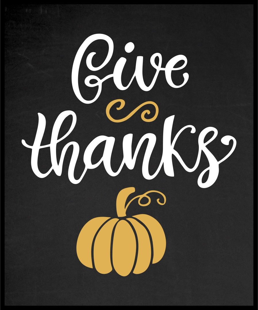 Give Thanks Chalkboard Printable Free