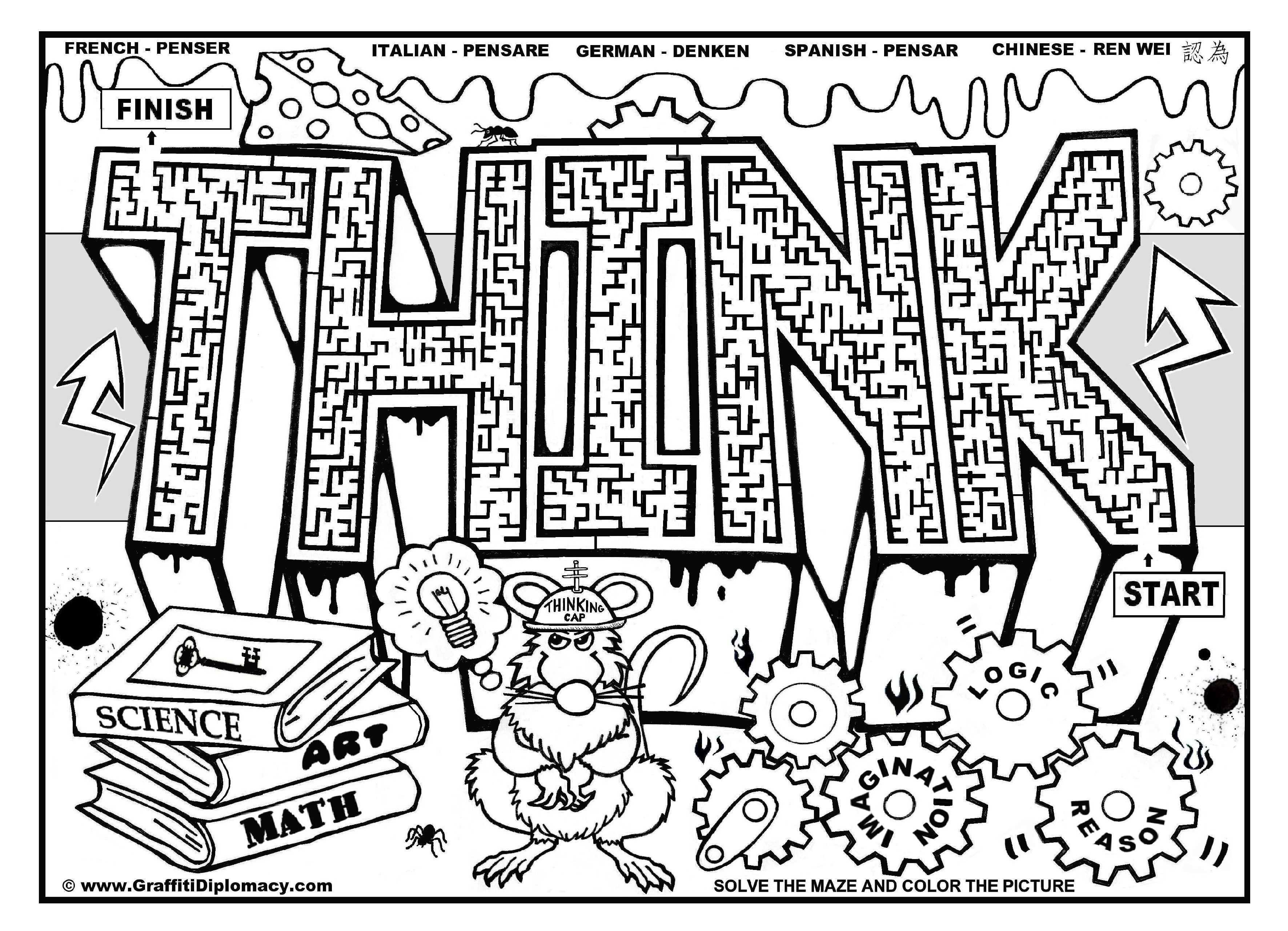 8 Images of Printable Graffiti Coloring Pages Adults
