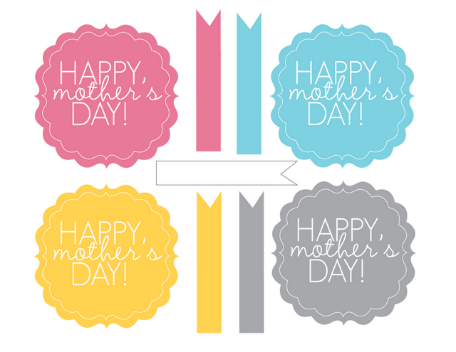 Happy Mother's Day Tags Printable Free