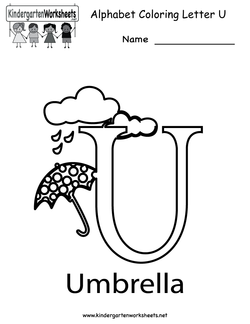 41 Letter U Coloring Pages For Preschoolers