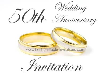 6 Images of Free Printable 50th Wedding Anniversary Cards