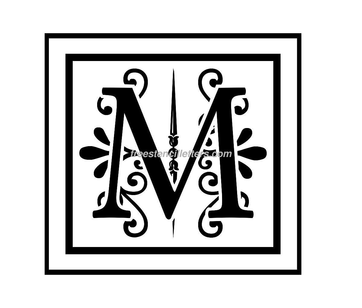 9 Images of Monogram Stencil Printable Tag