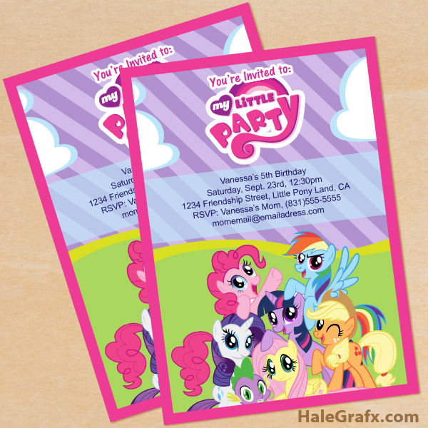 10 Images of My Little Pony Invitation Template Printables