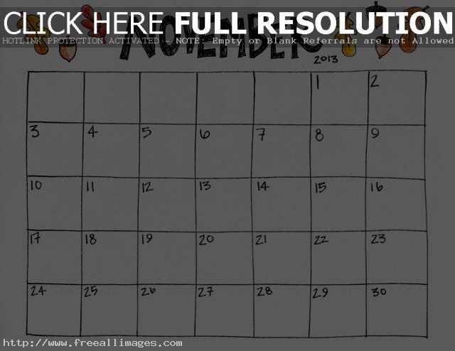 7 Images of Free Printable November Calendar