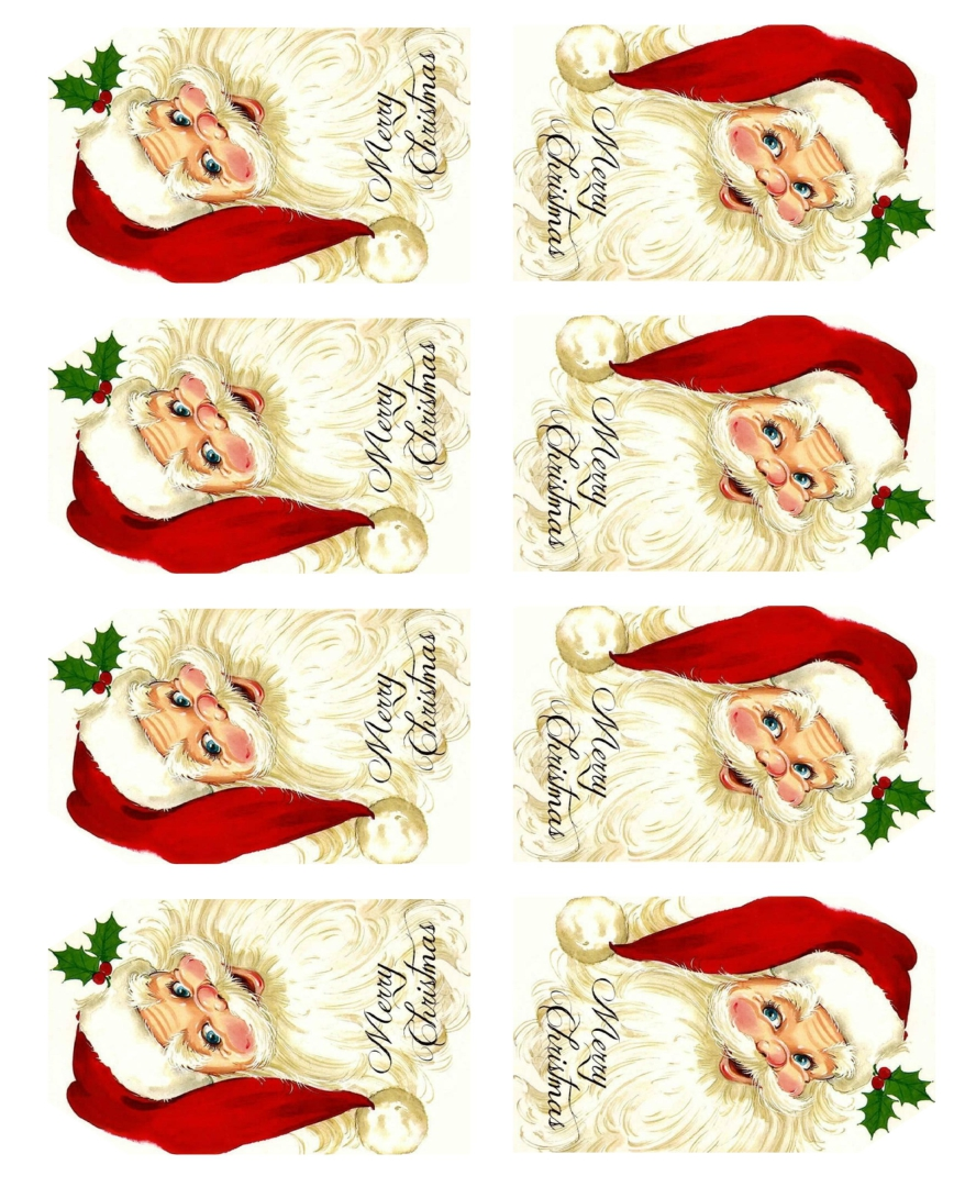 Old-Fashioned Christmas Tags Printable Free