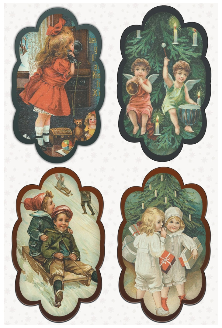 Old-Fashioned Christmas Tags Printable Free