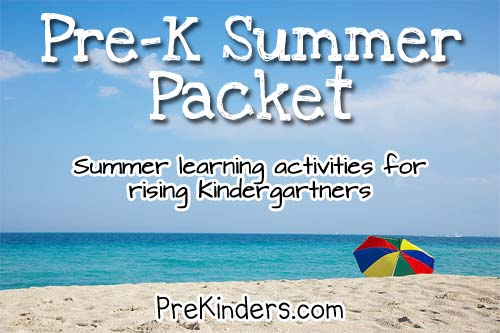 7 Images of Summer Packet Preschool Printables