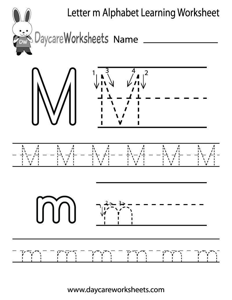 7 Images of Free Printable Letter M Worksheets