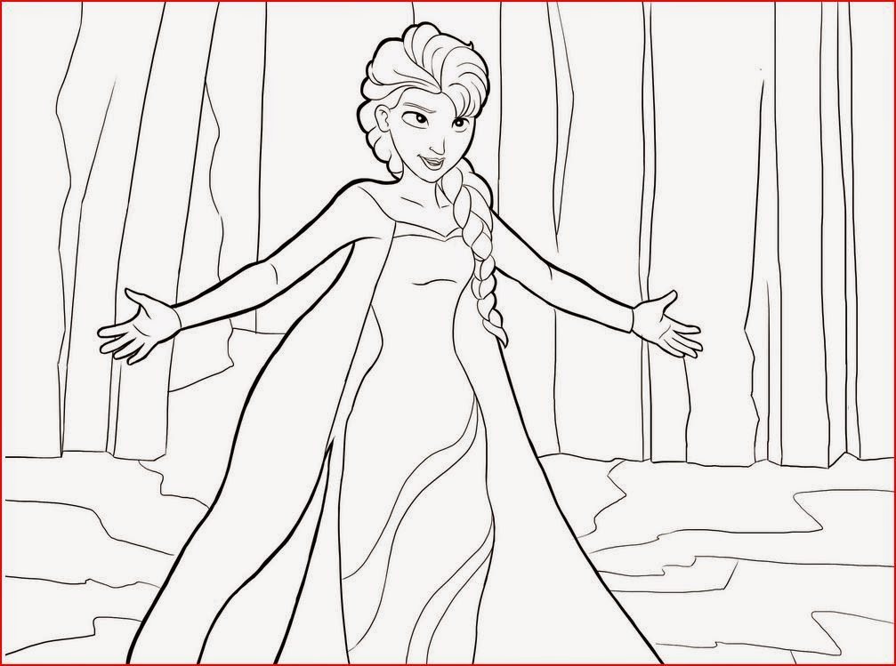 8 Images of Princess Elsa Printable Coloring Pages