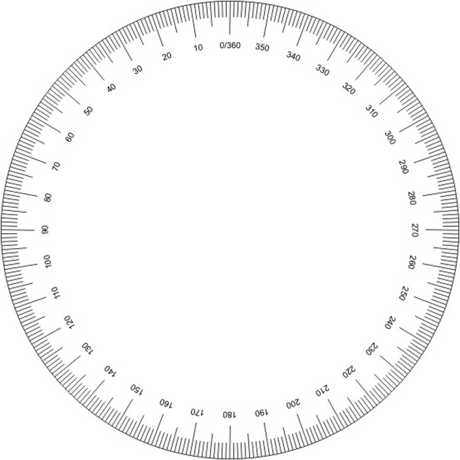 6 Images of Printable 360 Degree Circle
