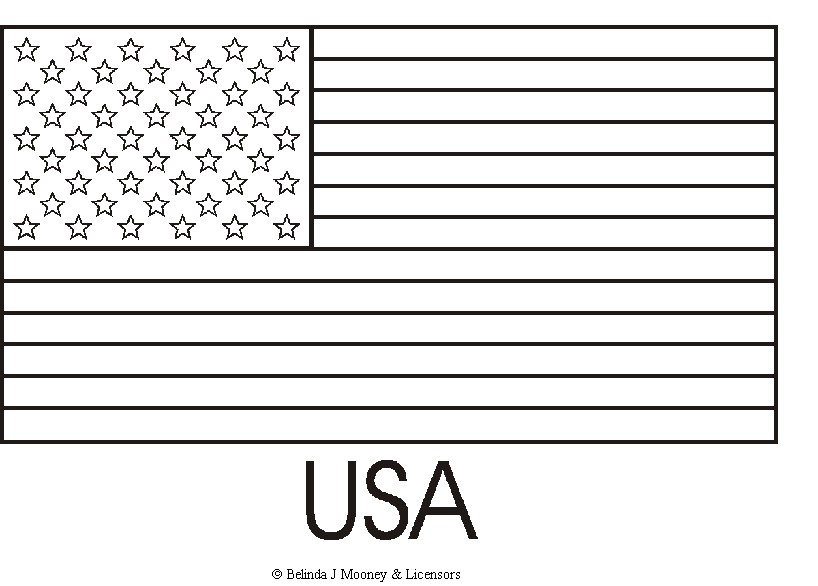4 Images of United States Flag Printable