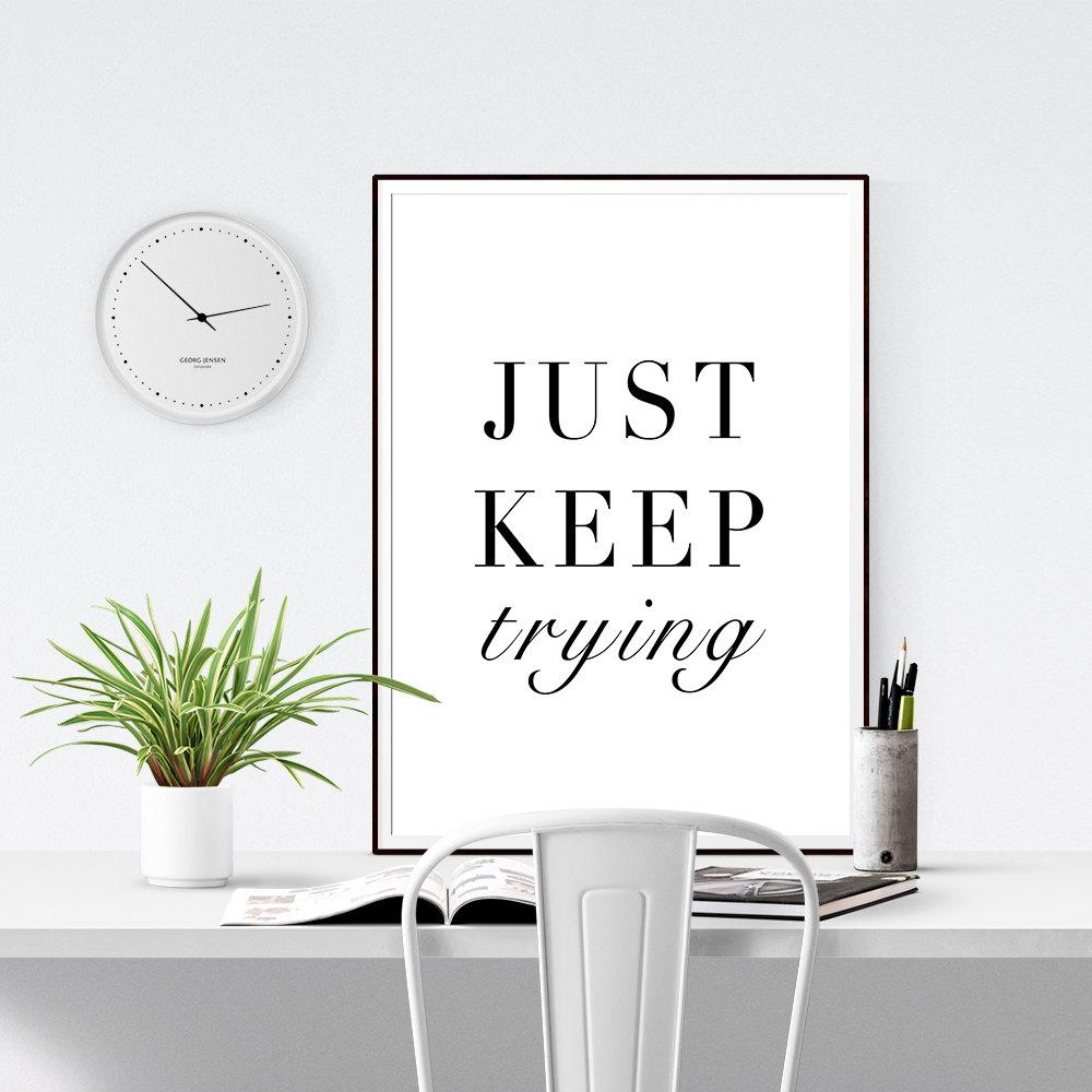 Printable Black White Wall Decor Quotes