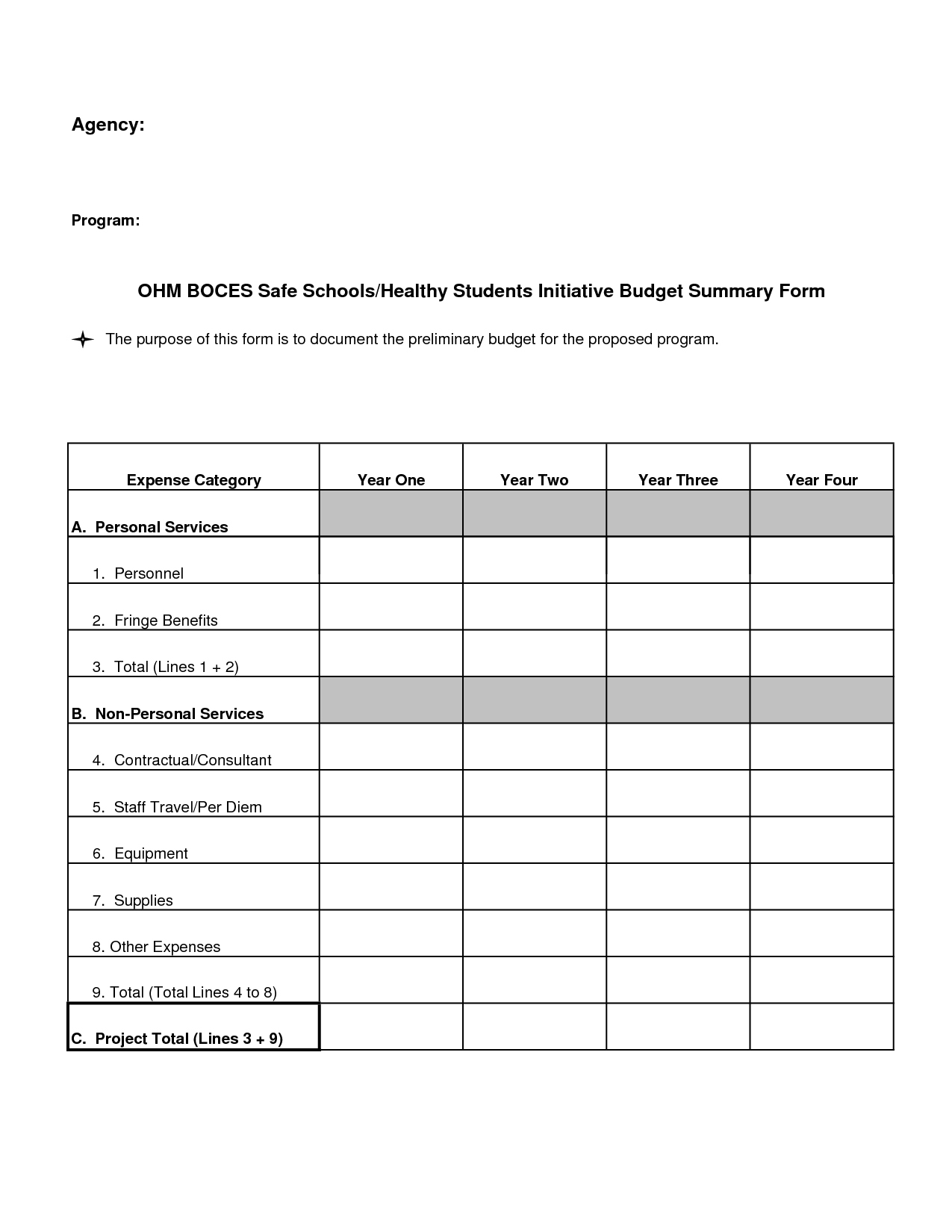 personal budget forms printable