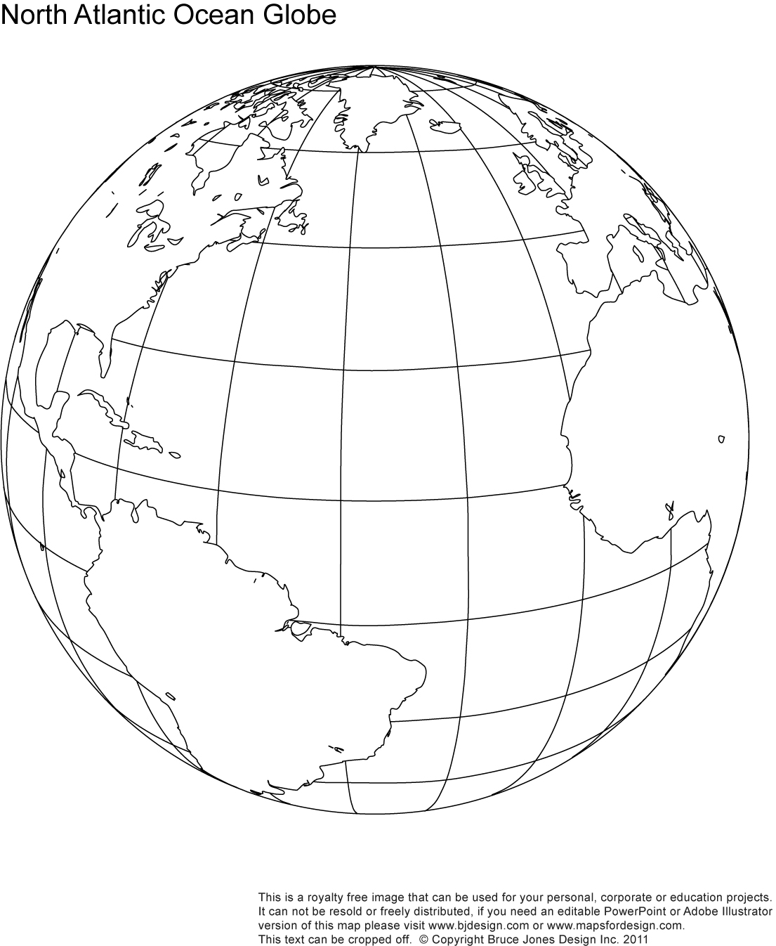 9 Images of Printable Outline World Globe